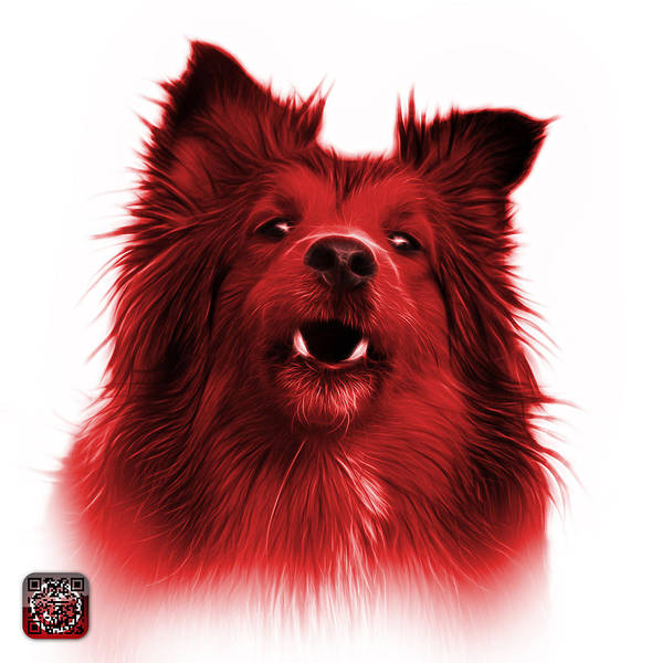 Painting - Red Sheltie Dog Art 0207 - Wb by James Ahn
