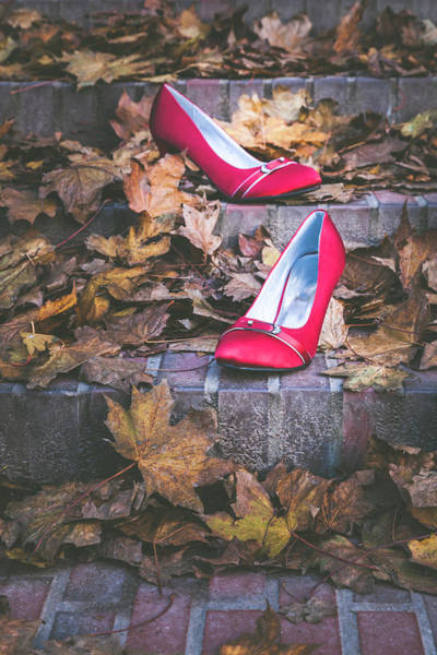 Photograph - Red Shoes II by Maria Heyens