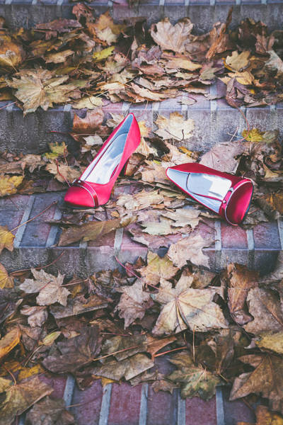 Photograph - Red Shoes by Maria Heyens