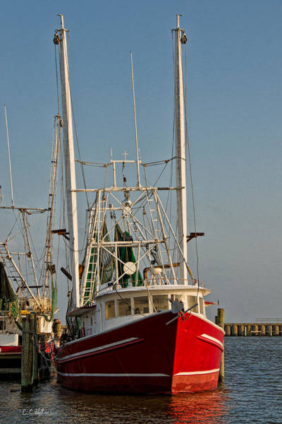 Photograph - Red Shrimp Boat by Christopher Holmes