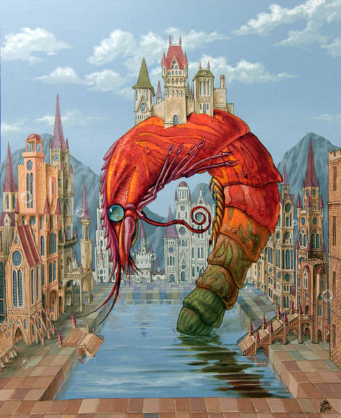 Painting - Red Shrimp by Victor Molev