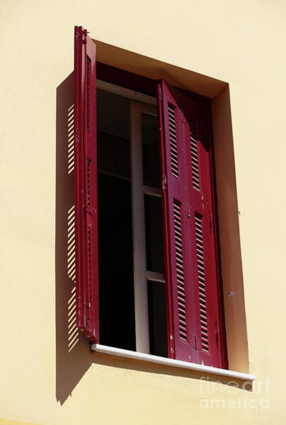Photograph - Red Shutters In Athens by John Rizzuto