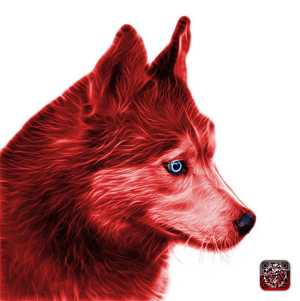Painting - Red Siberian Husky Art - 6048 - Wb by James Ahn