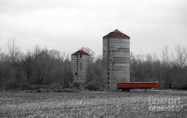 Wall Art - Photograph - Red Silo by Amanda Barcon