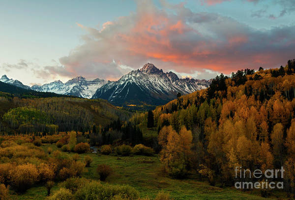 Wall Art - Photograph - Red Skies Over The Sneffels by Mike Dawson