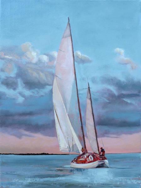 Painting - Red Skies by Trina Teele