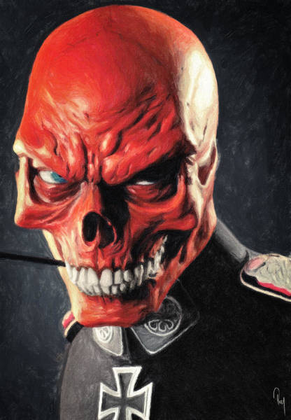 Wall Art - Painting - Red Skull by Zapista Zapista