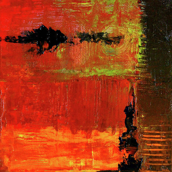 Wall Art - Painting - Red Sky Abstract by Nancy Merkle