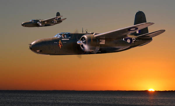 Royal Air Force Digital Art - Red Sky At Morning - Raaf Version by Mark Donoghue