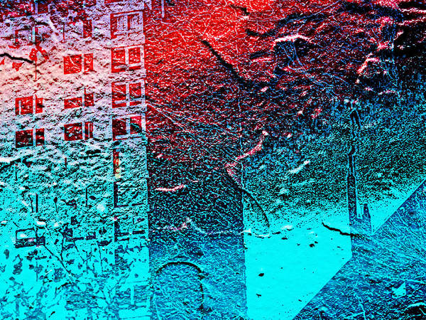 Nyc Digital Art - Red Sky At Night by Gina Callaghan