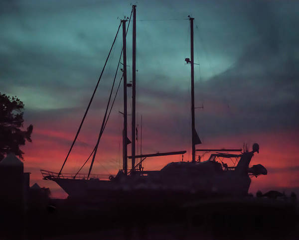 Wall Art - Photograph - Red Sky At Night, Sailor's Delight by Linda Eszenyi