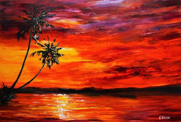 Painting - Red Sky by Kevin Brown