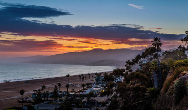 Photograph - Red Sky Over Malibu by Gene Parks