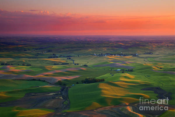 Palouse Photograph - Red Sky Palouse by Mike Dawson