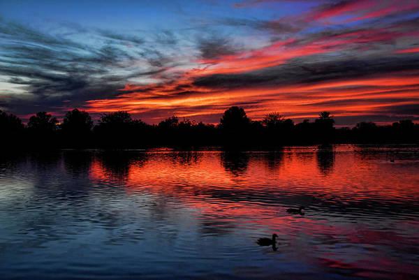 Silhoutte Photograph - Red Sky by Saija  Lehtonen