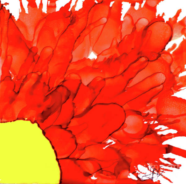 Painting - Red Slice Sunflower by Christine Dekkers