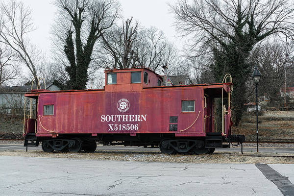 Photograph - Red Southern Caboose by Sharon Popek