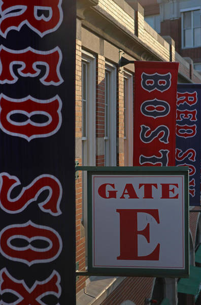 Photograph - Red Sox Banners At Gate E by Juergen Roth