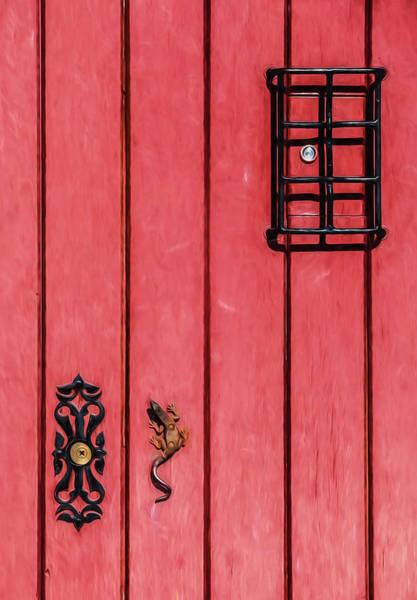 Red Speakeasy Door Art Print