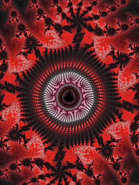 Digital Art - Red Spiral Infinity by Becky Herrera