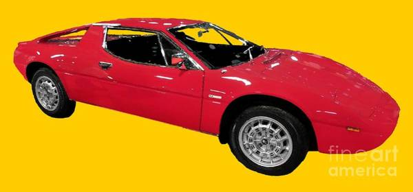Red Sport Car Art Art Print