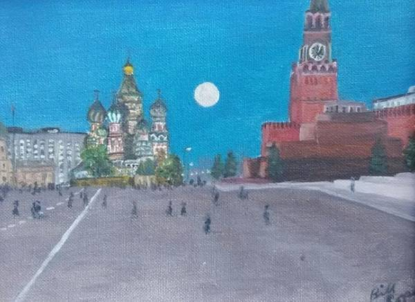 Lenin Painting - Red Square by Bill Cope