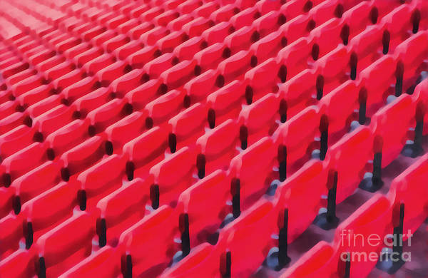 Wall Art - Painting - Red Stadium Seats by Edward Fielding