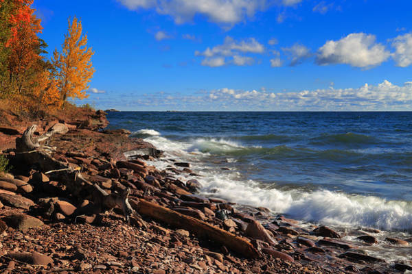 Photograph - Red Stones And Waves by Rachel Cohen