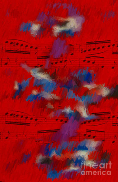 Digital Art - Red Storm Sonata by Lon Chaffin