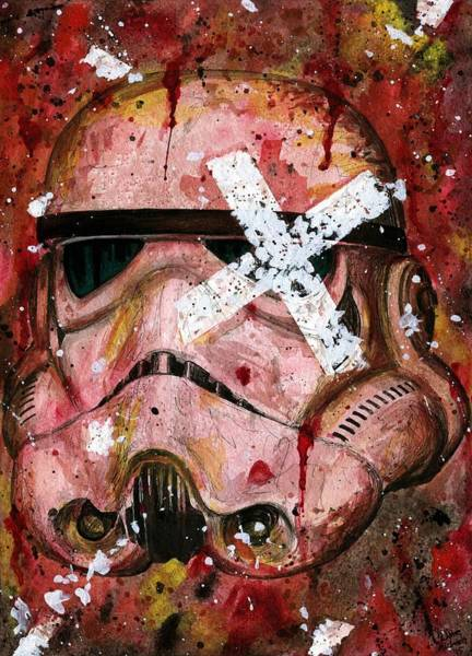 Han Solo Wall Art - Painting - Red Stormtrooper by Nate Michaels