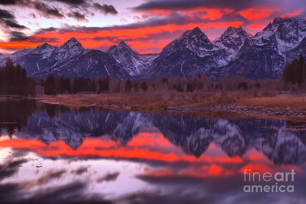 Photograph - Red Streaks In The Teton Skies by Adam Jewell