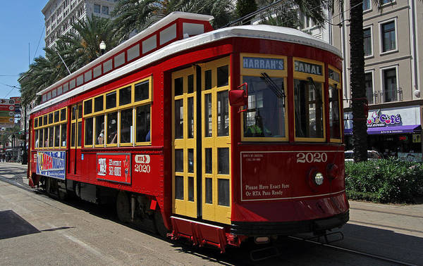 Photograph - Red Streetcar Of New Orleans by Juergen Roth