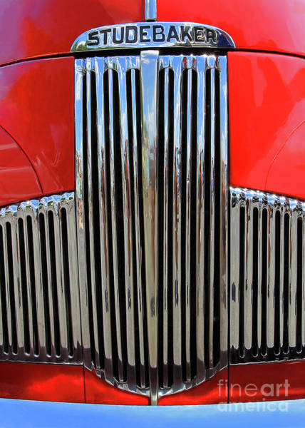 Photograph - Red Studebaker - Crop by Jennifer Robin
