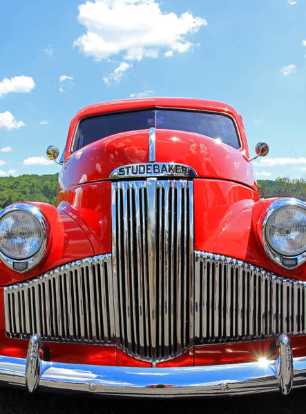 Photograph - Red Studebaker by Jennifer Robin
