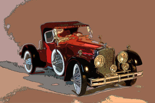 Photograph - Red Stutz by James Rentz