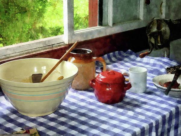Red Sugar Bowl Art Print