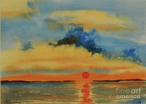 Wall Art - Painting - Red Sun by Annette McGarrahan