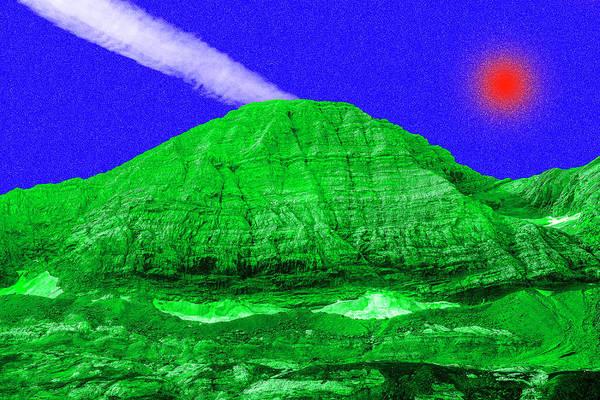 Red Sun White Ray  Art Print