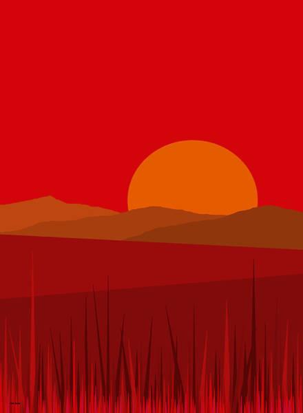 Digital Art - Red Sundance by Val Arie