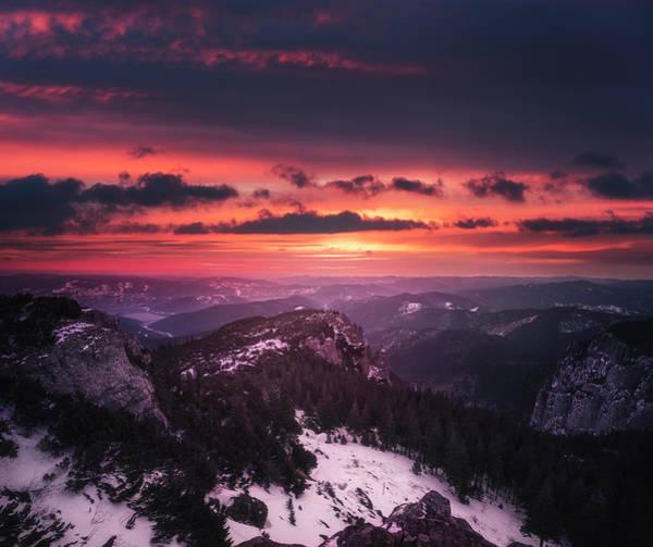Wall Art - Photograph - Red Sunrise 1 by Adrian Malanca