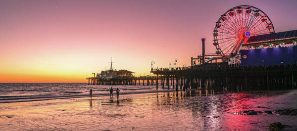Photograph - Red Sunset In Santa Monica by Michael Hope