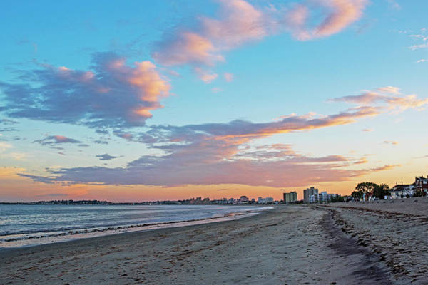 Photograph - Red Sunset On Revere Beach Revere Ma North Shore by Toby McGuire