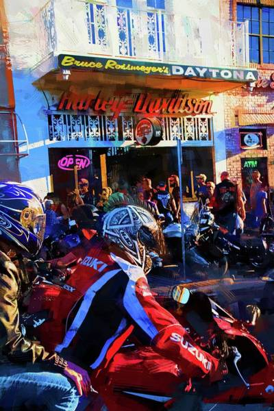 Daytona Bike Week Wall Art - Photograph - Red Suzuki by Alice Gipson