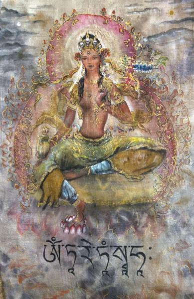 Tara Painting - Red Tara Or Kurukulla  by Silk Alchemy