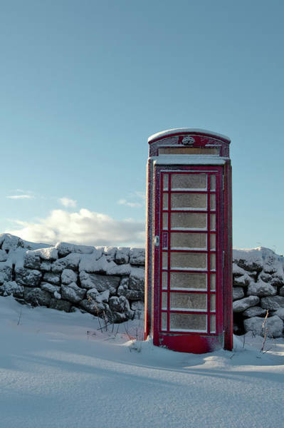 Photograph - Red Telephone Box In The Snow IIi by Helen Northcott