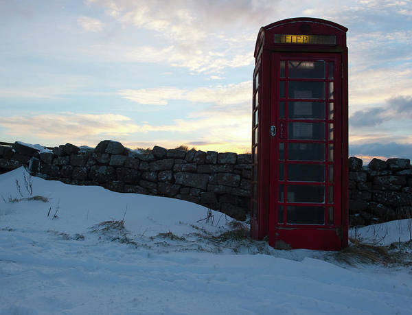 Photograph - Red Telephone Box In The Snow Vii by Helen Northcott