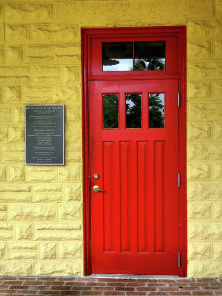 Photograph - Red Theatre Door by Kathy K McClellan