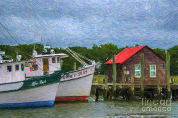 Photograph - Red Tin Roof Over Shem Creek by Dale Powell
