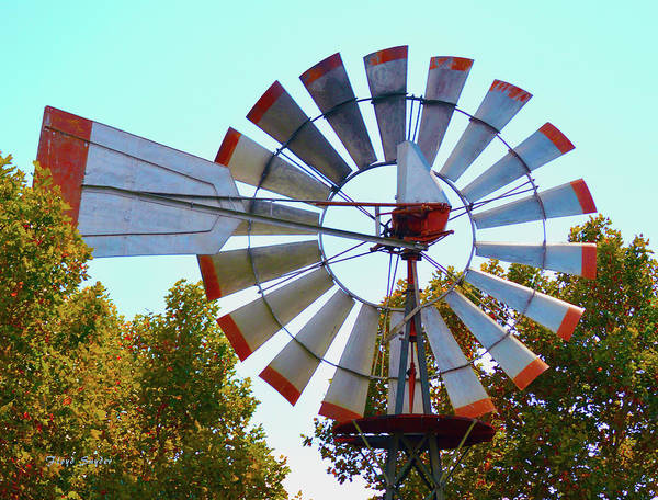 Photograph - Red Tipped Windmill by Floyd Snyder