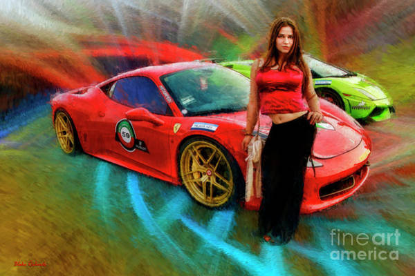 Photograph - Red Top Red Ferrari Girl by Blake Richards